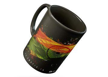 Tee Mafia Independence Day Black Mug with Print