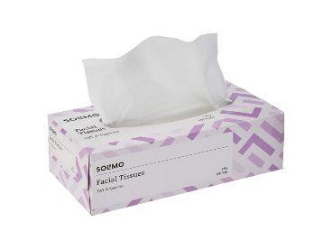Amazon Brand - Solimo 2 Ply Facial Tissues Carton Box - 100 Pulls AT Rs. 79