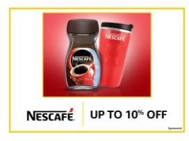 Nestle Coffee Up To 10% Off + Free delivery