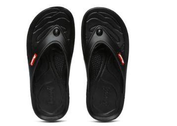 PARAGON Men Black Flip-Flops, At Rs.99