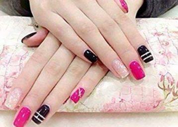 Fake Acrylic Natural Nails (20 Pcs) With (2 Pcs) Nails Glue Free, At Rs.49