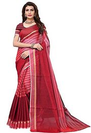 GoSriKi Women Saree with Blouse Piece