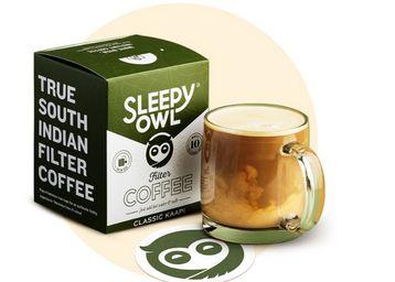 Sleepy Owl Filter Coffee Brew Bags | Set of 10 Bags