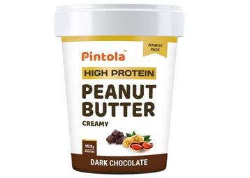 Pintola HIGH Protein Peanut Butter (Dark Chocolate) (Creamy, 510g)
