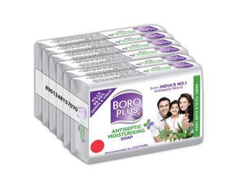 BOROPLUS Antiseptic + Moisturizing Soap - Neem, Tulsi & Aloe Vera (Pack of 6), At Rs.148