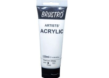 Brustro Artists Acrylic 120ml Titanium White, At Rs.207
