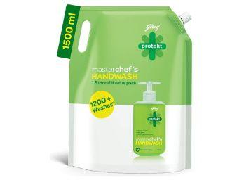 Godrej Protekt Germ Fighter Handwash Refill, Lime - 1.5 L AT Rs. 139