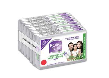 BOROPLUS Antiseptic + Moisturizing Soap - Neem, Tulsi & Aloe Vera (Pack of 6) At Rs. 148