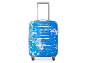 Skybags Trooper 55 Cms Polycarbonate Blue Hardsided Cabin Luggage, At Rs.1999