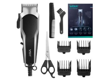 VGR Hair Clippers for Men,Professional Hair Trimmer Set with Adjustable Blade,Electric Hair Clippers with 6 Guide Combs