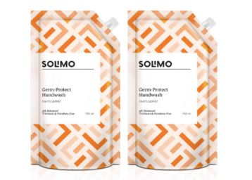Amazon Brand - Solimo Germ-Protect Handwash Liquid, 750 ml, Pack of 2