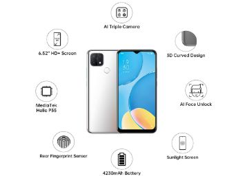 OPPO A15 (Rainbow Silver, 2GB RAM, 32GB Storage) With No Cost EMI/Additional Exchange Offers