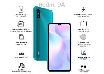 Redmi 9A (Nature Green, 2GB RAM, 32GB Storage) | 2GHz Octa-core Helio G25 Processor | 5000 mAh Battery