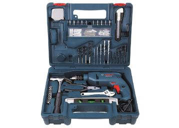 Bosch GSB 500W 500 RE Corded-Electric Drill Tool Set (Blue), 10 mm