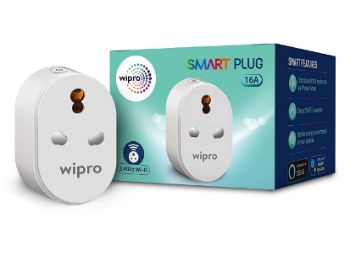 Wipro 16A Wi-Fi Smart Plug with Energy Monitoring- Suitable for Large Appliances like Geysers, Microwave Ovens, Air Conditioners (Works with Alexa and Google Assistant)