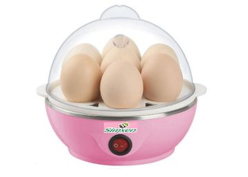 Buy Simxen Egg Boiler Electric Automatic Off 7 Egg Poacher for Steaming, Also Boiling and Frying, At Just Rs.399
