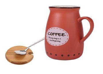 Buy BJE Ceramic Beverage Mug - 3 Pieces, Red, 400 ml, At Just Rs.499