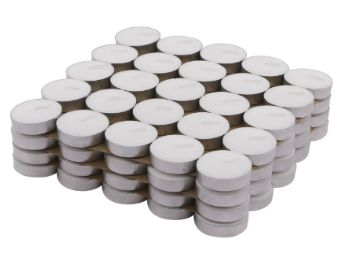 Buy Amazon Brand - Solimo Wax Tealight Candles (Set of 100, Unscented), At Just Rs.279