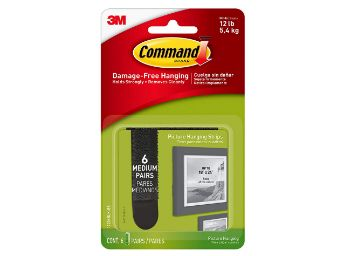 Buy Command Medium Picture Hanging Strip , 4 Pairs, Damage free walls, Holds 5.4kg, AT Just Rs.169