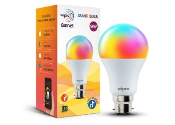wipro NS9400 9-Watt B22 WiFi Smart LED Bulb with Music Sync Compatible At Rs. 599
