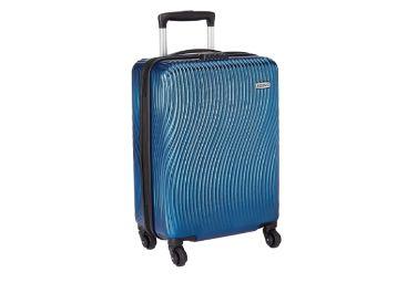 Buy Amazon Brand - Solimo Ripple Hardside Trolley, Blue, 55 cm