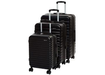 Buy AmazonBasics Set of 3 (55 cm + 68 Cm + 78 Cm) Black Hardsided Trolley