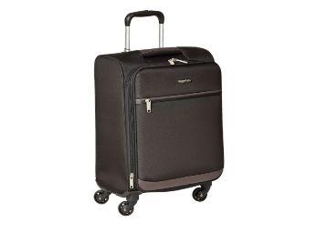 Buy AmazonBasics 53 cm Black Softsided Cabin Trolley