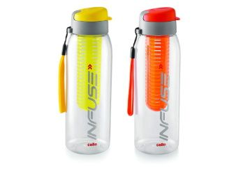 Cello Infuse Plastic Water Bottle Set, 800 ml, Set of 2 At Rs. 293
