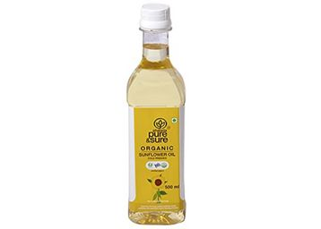 Pure & Sure Organic Sunflower Oil, At Rs.145