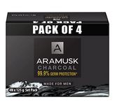 Aramusk Charcoal Soap, 125 g (Pack of 4)