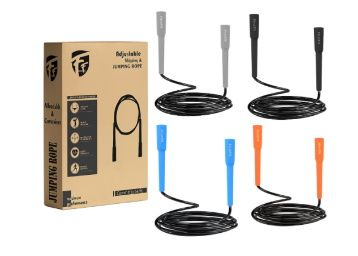 FirstFit Jump Rope, Tangle-Free Rapid Speed Jumping Rope Cable with Ball Bearings At Rs. 99