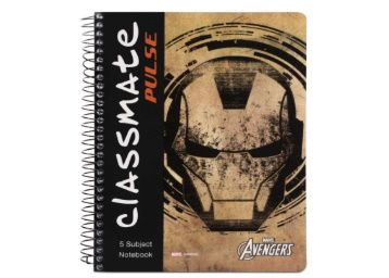 Classmate 2100128 Soft Cover 5 Subject Spiral Binding Notebook At Rs. 92