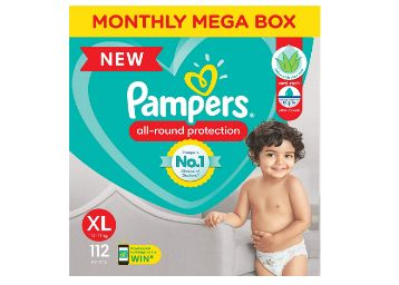Buy Pampers All round Protection Pants, Extra Large size baby diapers (XL) 112 Count, Lotion with Aloe Vera