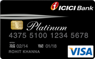 icici bank platinum chip credit card