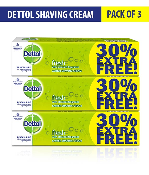 Dettol Shaving Cream Fresh 78gms Pack of 3 low price