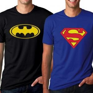 Superman and Batman T-Shirt Combo at Flat 83% Off discount offer