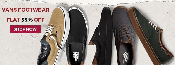 VANS Footwear @ Flat 55% off