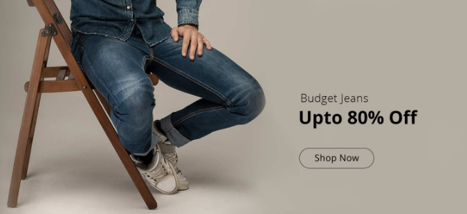 Upto 80% off on budget jeans – Starts @ Rs 299 + More offers low price