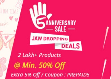 Shopclues Anniversary Sale: Jaw Dropping Deals + Additional Offers