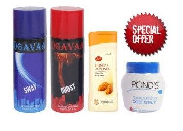 Get 2 Ogavaa Deodorant+ Joy Body Lotion + Ponds Cold Cream low price