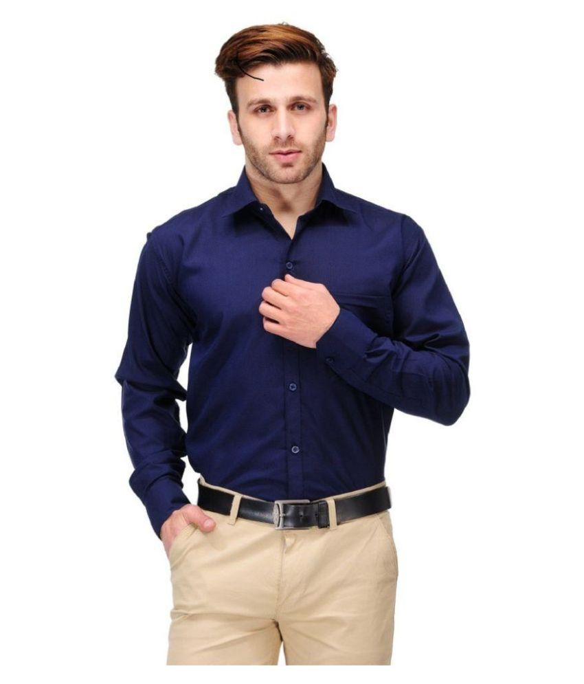 Unique for men Navy Formal Slim Fit Shirt low price