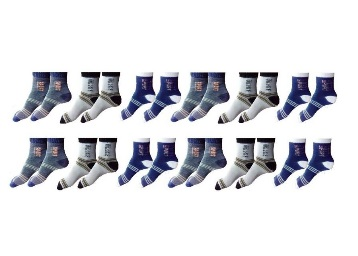 Zacharias Men's Striped Ankle Length Socks low price