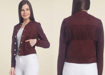 Vero Moda Brown Solid Jacket low price