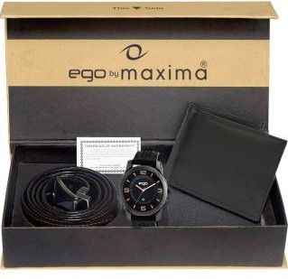 Great Offer : Maxima Men's Analogue watch with Free Wallet&Belt low price