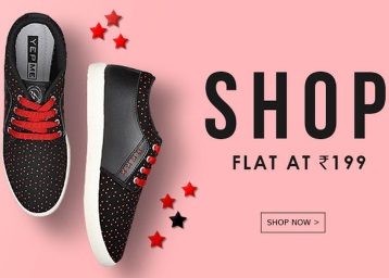 Yepme : Grab Shoes at Flat Rs. 199 + Extra 20% Off On Online Payment low price