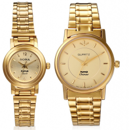 HMT Gold Plated Couples Watches, Valentines Special low price