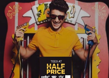 Tees at Half Price:- Celio, Campus Sutra & More low price