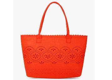 Indie Picks Felt Handbag with Cutwork low price