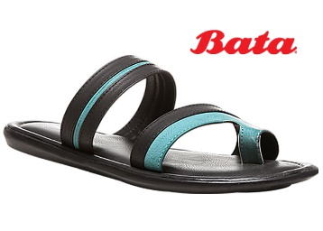 Bata Men Black Chappals low price