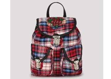 KOOVS Fabric Badge Backpack low price